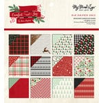 My Minds Eye - Comfort and Joy Collection - Christmas - 6 x 6 Paper Pad with Glitter Accents