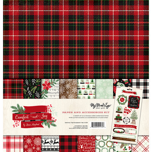 My Minds Eye - Comfort and Joy Collection - Christmas - 12 x 12 Paper and Accessories Kit