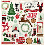 My Minds Eye - Comfort and Joy Collection - Christmas - 12 x 12 Chipboard Stickers - Elements