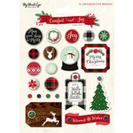 My Minds Eye - Comfort and Joy Collection - Christmas - Decorative Brads