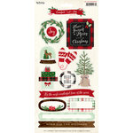 My Minds Eye - Comfort and Joy Collection - Christmas - Cardstock Stickers with Glitter Accents