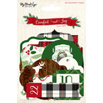 My Minds Eye - Comfort and Joy Collection - Christmas - Advent Tags with Glitter Accents