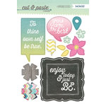 My Mind's Eye - Cut and Paste Collection - Adorbs - Chipboard Stickers - Be