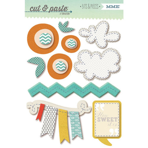 My Mind's Eye - Cut and Paste Collection - Charm - Bits and Pieces - Sweet