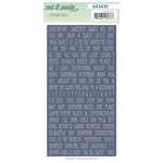 My Mind's Eye - Cut and Paste Collection - Charm - Cardstock Stickers - Tiny Words - Sweet