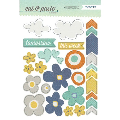 My Mind's Eye - Cut and Paste Collection - Charm - Chipboard Stickers - Carefree
