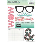My Mind's Eye - Cut and Paste Collection - Flair - Cardstock Stickers - Today