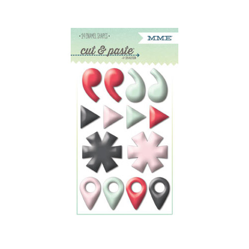 My Mind's Eye - Cut and Paste Collection - Flair - Enamel Shapes - Small