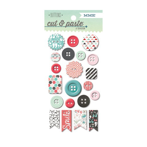 My Mind's Eye - Cut and Paste Collection - Flair - Decorative Buttons - Snapshots