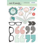 My Mind's Eye - Cut and Paste Collection - Flair - Chipboard Stickers - Wow