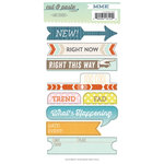 My Mind's Eye - Cut and Paste Collection - Presh - Cardstock Stickers - Label - Right Now