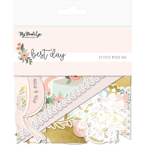My Minds Eye - Best Day Collection - Ephemera - Mixed Bag with Foil Accents