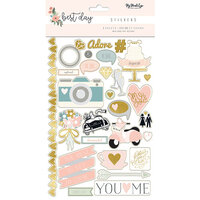 My Minds Eye - Best Day Collection - Cardstock Stickers with Foil Accents