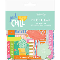 My Minds Eye - Just Chill Collection - Ephemera - Mixed Bag with Foil Accents