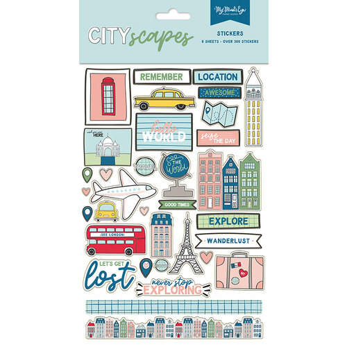 My Minds Eye - Cityscapes Collection - Cardstock Stickers