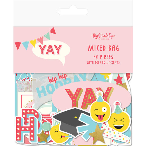 My Minds Eye - Yay Collection - Ephemera - Mixed Bag With Foil Accents