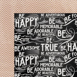 My Minds Eye - Chalk Studio Collection - 12 x 12 Double Sided Paper - Just Be