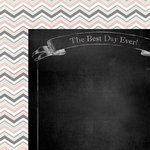 My Minds Eye - Chalk Studio Collection - 12 x 12 Double Sided Paper - Best Day
