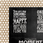 My Mind's Eye - Chalk Studio Collection - 12 x 12 Double Sided Paper - Moments