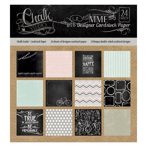 My Mind's Eye - Chalk Studio Collection - 6 x 6 Paper Pad