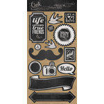 My Mind's Eye - Chalk Studio Collection - Decorative Cardstock Stickers