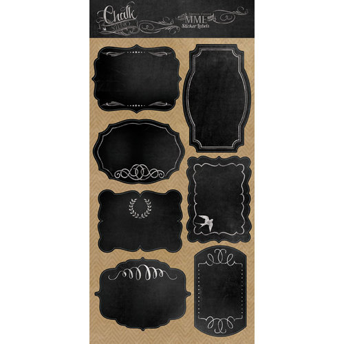 My Mind's Eye - Chalk Studio Collection - Cardstock Stickers - Label