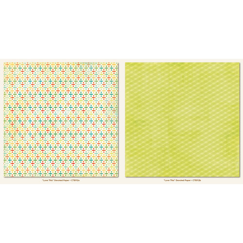 My Mind's Eye - Collectable Collection - Notable - 12 x 12 Double Sided Paper - Devoted