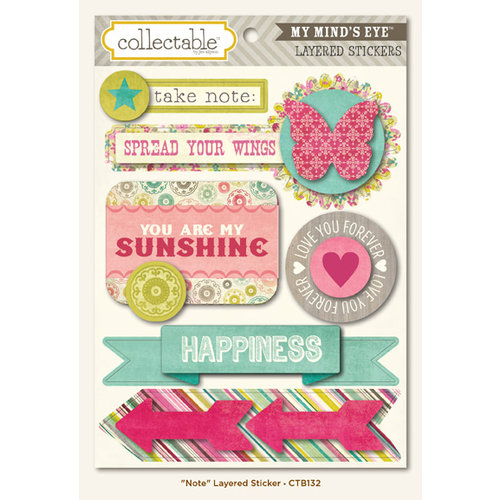My Mind's Eye - Collectable Collection - Memorable - 3 Dimensional Stickers - Note
