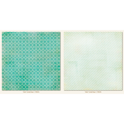 My Mind's Eye - Collectable Collection - Memorable - 12 x12 Double Sided Paper - Cordial
