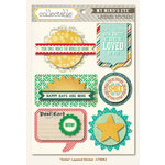 Collectable Collection - Remarkable - 3 Dimensional Stickers - Smile by My Mind's Eye