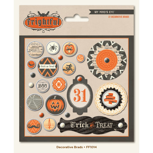 My Mind's Eye - Frightful Collection - Halloween - Decorative Brads