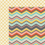 My Mind's Eye - Sky's the Limit Collection - 12x 12 Double Sided Paper - Mixed-Chevron