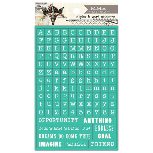 My Mind's Eye - Skys the Limit Collection - Cardstock Stickers - Tiny Words