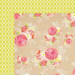 My Mind's Eye - Up and Away Collection - 12 x 12 Double Sided Paper - Krafty Floral