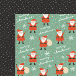 My Minds Eye - Oh What Fun Collection - Christmas - 12 x 12 Double Sided Paper - Santa