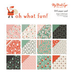 My Minds Eye - Oh What Fun Collection - Christmas - 6 x 6 Paper Pad