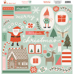 My Minds Eye - Oh What Fun Collection - Christmas - 12 x 12 Chipboard Stickers - Elements