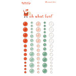 My Minds Eye - Oh What Fun Collection - Christmas - Enamel Dots