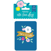 My Minds Eye - One Fine Day Collection - Journal Cards with Foil Accents