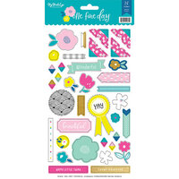 My Minds Eye - One Fine Day Collection - Stickers with Foil Accents