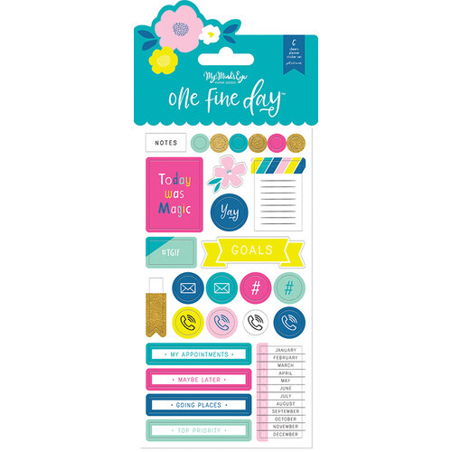 My Minds Eye - One Fine Day Collection - Planner Sticker Set