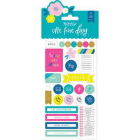 My Minds Eye - One Fine Day Collection - Planner Sticker Set with Foil Accents