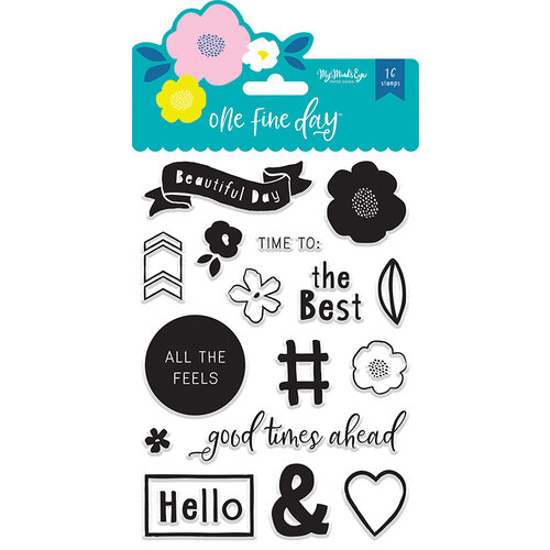 My Minds Eye - One Fine Day Collection - Clear Acrylic Stamps