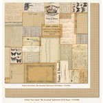 My Mind's Eye - Follow Your Heart Collection - Be Amazing - 12 x 12 Double Sided Paper - Ephemera