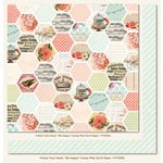 My Mind's Eye - Follow Your Heart Collection - Be Happy - 12 x 12 Double Sided Paper - Honey Pink