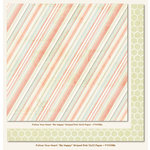My Mind's Eye - Follow Your Heart Collection - Be Happy - 12 x 12 Double Sided Paper - Striped Pink