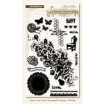 My Mind's Eye - Follow Your Heart Collection - Be Happy - Clear Acrylic Stamps