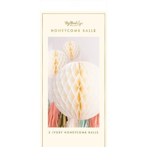 My Minds Eye - Fancy Ivory Honeycomb Balls