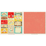 Boy Crazy Collection - 12 x 12 Double Sided Paper - Tags by My Mind's Eye
