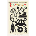 Boy Crazy Collection - Clear Acrylic Stamps by My Mind's Eye